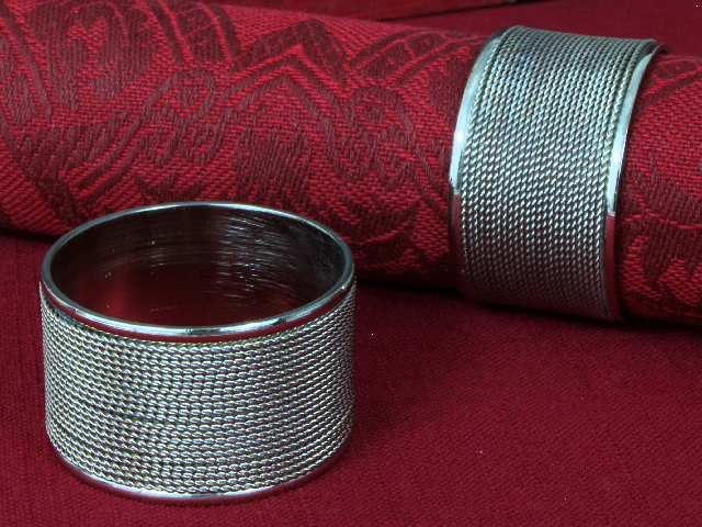 NAPKIN HOLDERS OR NAPKIN RINGS