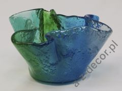 Glass bowl 22x13cm [AZ02272]