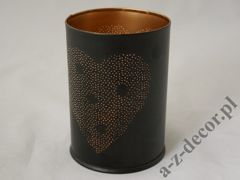 Metal candle holder with heart 10x14cm [AZ02169]