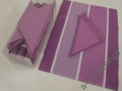 Violet cotton table set 12 pcs design5011 [AZ01240]
