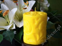 Yellow pillar fiorentino candle 8x10cm [AZ02185]
