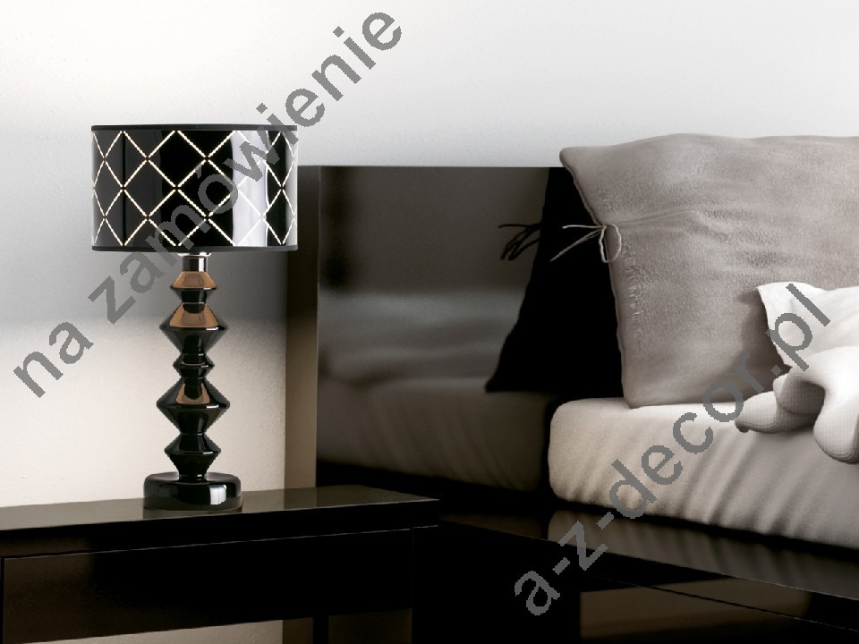 ROLL GLOOS black bedroom lamp 45cm [AZ02669]