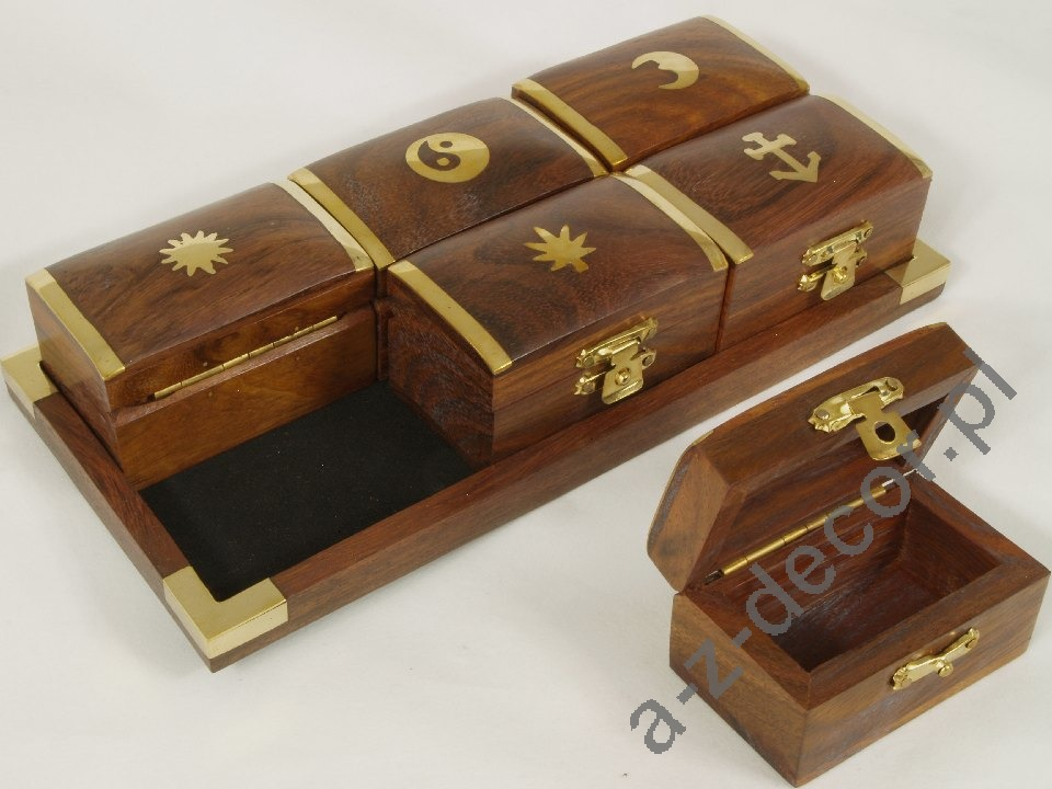 Decorative Boxes And Trays : Wooden tray boxes cm az