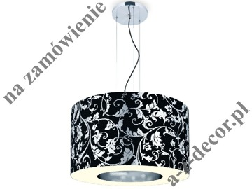 RING Royal Black-Silver suspension 90x65-165cm [2527]