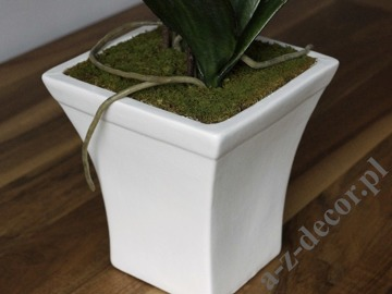 Artificial orchid spray in pot 77cm [AZ00326]