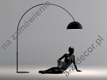 Black GLOW floor lamp 120-210x170-220cm [222]