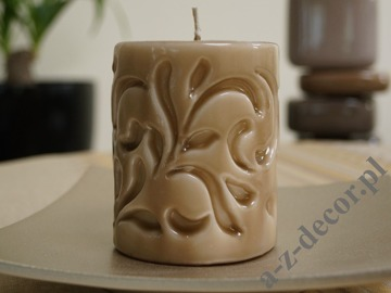 Branded tortora pillar candle 10cm [AZ02067]