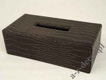 CROCO tissue box 14x28x9cm [AZ00706]