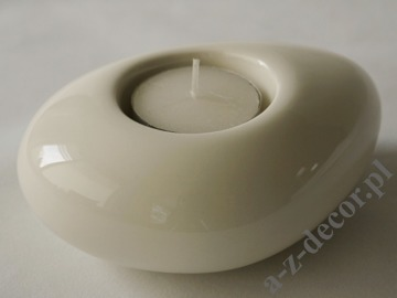 Cream ceramic T-light holder 12cm [AZ02032]