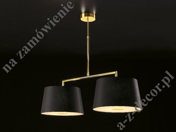 DELTA Gold double suspension lamp 95x60-90cm with diffuser [735]