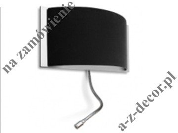 DELTA SILVER wall lamp 19x40cm + LED [2544]