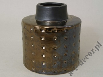DOTS earthenware vase 13cm [AZ01055]