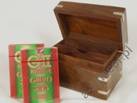 Decorative wooden box with cards [AZ01553]