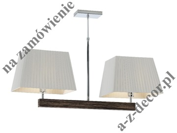 Double SMOOTH EBANO ceiling lamp 95x50-80cm [002509]