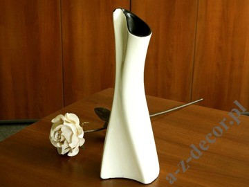 ELFI cream ceramic vase 39cm [AZ01834]