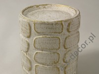 Earthenware candle holder 10x12cm [AZ01124]