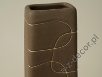Brown earthenware vase 37cm [AZ00561]