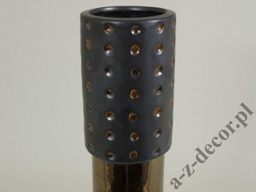 DOTS earthenware vase 8x42cm [AZ01053]