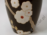 Earthenware vase with flower design 33cm [AZ01132]