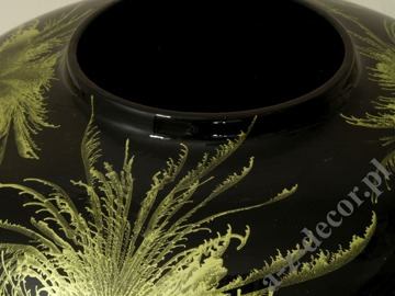 Green and black ceramic vase 31cm [AZ01431]