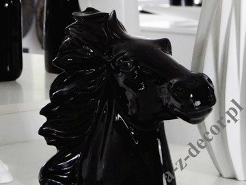 Horse head 35x18,5x29cm Black [AZ02519]