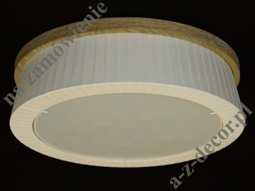 Light beige LOOP 42cm pleated ceiling lamp [AZ02684]