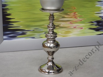 Metal candle holder 11x27cm [AZ01949]