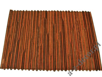 Orange abaca placemat 33x48cm [AZ01512]