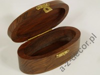 Oval wooden box for jewelry [AZ01574]