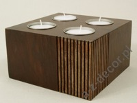 Pillar candle holder 14x14x8cm [AZ01056]