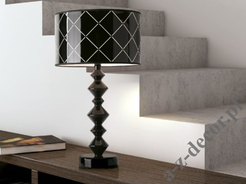 ROLL GLOSS black table lamp 40x74cm [AZ02610]