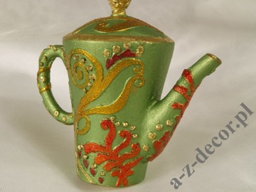 Tea-pot green 8cm [AZ01609]