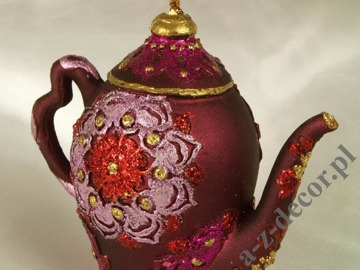 Tea-pot plum 9cm [AZ01617]