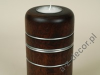 Tealight candle holder with metal 8x15cm [AZ00604]