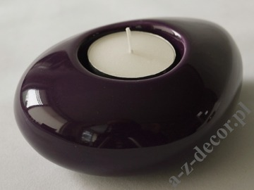 Violet ceramic T-light holder 12cm [AZ02033]