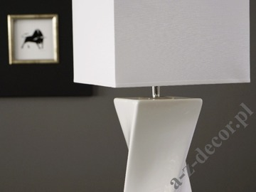 White TWISS table lamp 25x73cm [AZ02397]