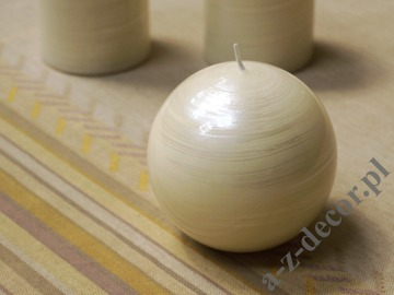 White brushed ball candle 10cm [AZ02056]