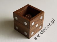 Wooden dice box 6x6x6cm [AZ01571]