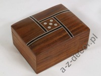 Wooden dice box 8x6x4cm [AZ01569]