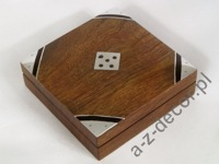 Wooden dice box 9x9x3cm [AZ01567]