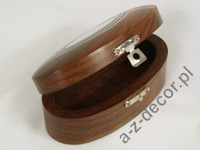 Wooden oval box 10x5x4cm [AZ01575]