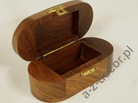 Wooden oval decorated box [AZ01572]