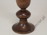 Wooden pillar candle holder 38cm [AZ01538]