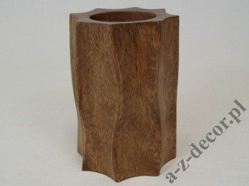 Wooden tealight candle holder 15cm [AZ01539]