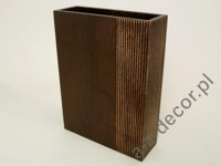 Rectangular wooden vase 7,5x23x30,5cm [AZ01079]