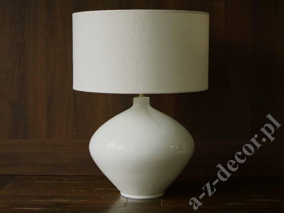 Ceramiczna Lampa Stołowa Lucia Jasno Kremowa 42x56cm Az02481
