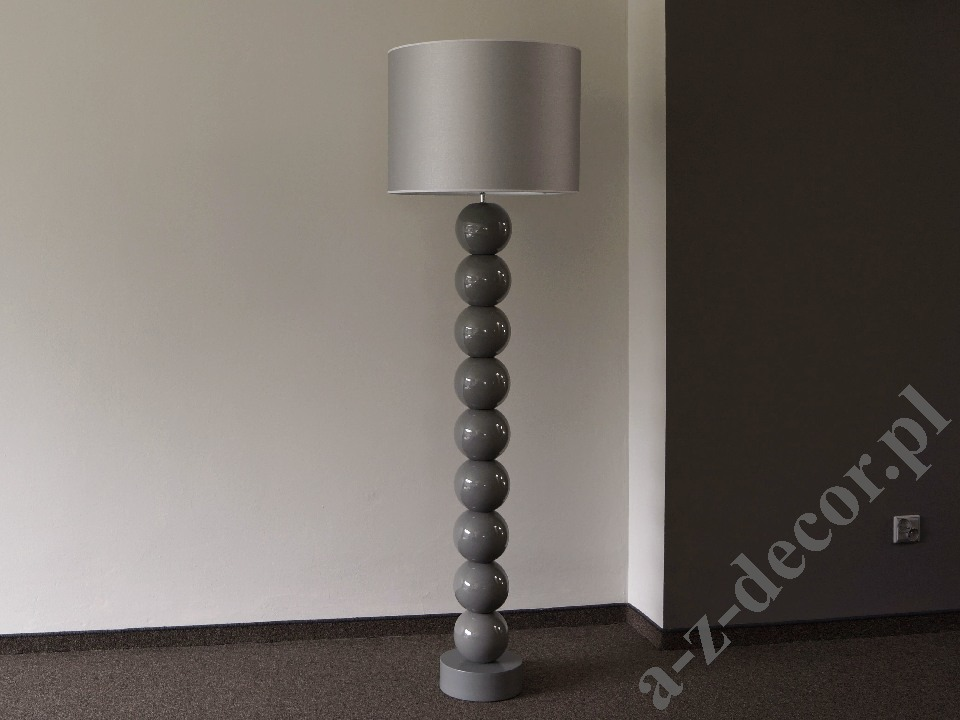 Nowoczesna Lampa Podłogowa Perla Ix Cy Szara 50x170cm Az02495